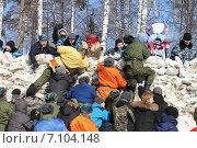Купить «Празднование масленицы. Новосибирск. Россия», фото № 7104148, снято 22 февраля 2015 г. (c) Наталия Макарова / Фотобанк Лори