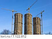 Купить «Панорама строительства», фото № 7122812, снято 13 марта 2015 г. (c) Victoria Demidova / Фотобанк Лори