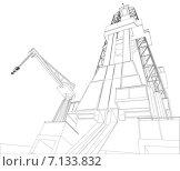 Купить «Нефтяная вышка, вид снизу», иллюстрация № 7133832 (c) Кирилл Черезов / Фотобанк Лори