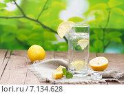 Холодная вода с лимоном и мятой. Стоковое фото, фотограф Ольга Гамзова / Фотобанк Лори