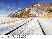 Кругобайкальская железная дорога(КБЖД) (2015 год). Редакционное фото, фотограф Роман Ушаков / Фотобанк Лори