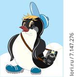 Пингвин-фотограф. Стоковая иллюстрация, иллюстратор Павлова Елена / Фотобанк Лори
