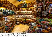 Купить «Посудная лавка на Большом Базаре в Стамбуле», фото № 7154776, снято 21 февраля 2015 г. (c) Андрей Родионов / Фотобанк Лори