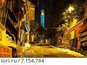Купить «Ночной переулок в Стамбуле», фото № 7154784, снято 21 февраля 2015 г. (c) Андрей Родионов / Фотобанк Лори