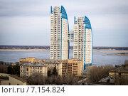 """Дом """"Парус"""" в Волгограде (2015 год). Редакционное фото, фотограф Tatiana Belova / Фотобанк Лори"""