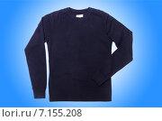 Купить «Male sweater isolated on the white», фото № 7155208, снято 11 сентября 2012 г. (c) Elnur / Фотобанк Лори