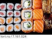 Набор роллов, Японская кухня. Стоковое фото, фотограф Афанасьева Ольга / Фотобанк Лори