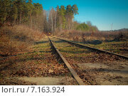 Старая железная дорога. Стоковое фото, фотограф Регина Першина / Фотобанк Лори