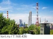 Купить «Московский нефтеперерабатывающий завод в Капотне, Россия», фото № 7168436, снято 14 июля 2014 г. (c) Юрий Губин / Фотобанк Лори