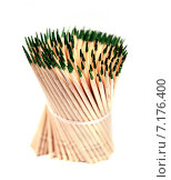 Купить «Зубочистки с мятой перевязанные нитью», фото № 7176400, снято 3 января 2013 г. (c) Евгений Ткачёв / Фотобанк Лори