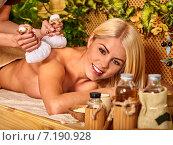 Woman getting massage . Стоковое фото, фотограф Gennadiy Poznyakov / Фотобанк Лори