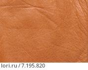 Купить «Натуральная кожа рыжего цвета. Фон», фото № 7195820, снято 30 марта 2015 г. (c) Алексей Голованов / Фотобанк Лори