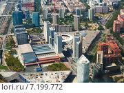 Купить «Aerial view of Barcelona, Spain», фото № 7199772, снято 1 августа 2014 г. (c) Яков Филимонов / Фотобанк Лори