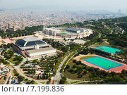 Купить «view of Olimpic area of Montjuic. Barcelona», фото № 7199836, снято 1 августа 2014 г. (c) Яков Филимонов / Фотобанк Лори