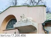 Купить «Москва, фрагмент ворот на территорию Слободского дворца по улице 2-ой Бауманской, 5», эксклюзивное фото № 7200456, снято 28 марта 2015 г. (c) Овчинникова Ирина / Фотобанк Лори