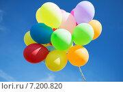 Купить «lots of colorful balloons in the sky», фото № 7200820, снято 4 августа 2013 г. (c) Syda Productions / Фотобанк Лори