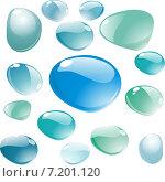 Капли воды на белом фоне. Стоковая иллюстрация, иллюстратор Попова Евгения / Фотобанк Лори
