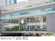 Купить «Hong Kong - AUGUST 1, 2014: Hong Kong Apple Store on August 1 in», фото № 7202452, снято 1 августа 2014 г. (c) Elnur / Фотобанк Лори
