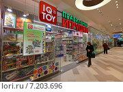 Купить «Сетевой магазин развивающих игрушек IQ Toy в Центральном детском магазине на Лубянке, Москва, Театральный пр., 5», эксклюзивное фото № 7203696, снято 1 апреля 2015 г. (c) Алексей Гусев / Фотобанк Лори