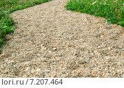 Купить «Дорожка посыпанная гравием», эксклюзивное фото № 7207464, снято 10 июля 2010 г. (c) Алёшина Оксана / Фотобанк Лори