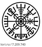 Купить «Vegvisir, магический компас викингов», иллюстрация № 7209740 (c) Одиссей / Фотобанк Лори