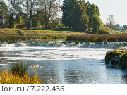 Водопад Ventas Rumba, Латвия (2014 год). Стоковое фото, фотограф Юлия Бабкина / Фотобанк Лори