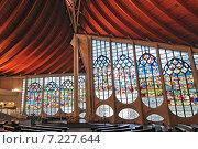 Interior of Sainte Jeanne d'Arc church Rouen. Normandy France. Стоковое фото, агентство BE&W Photo / Фотобанк Лори