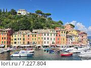 Купить «The harbour at Portofino, Golfo del Tigullio, Liguria, Italian Riviera, Italy», фото № 7227804, снято 22 апреля 2019 г. (c) BE&W Photo / Фотобанк Лори