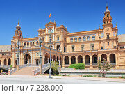 Купить «Plaza de Espana (Place d' Espagne), built between 1914 and 1928 by the architect Anibal Gonzalez, Sevilla, Andalucia, Spain», фото № 7228000, снято 27 марта 2019 г. (c) BE&W Photo / Фотобанк Лори