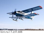 Купить «Самолет Ан-2 на лыжном шасси на взлете», фото № 7231688, снято 2 апреля 2015 г. (c) Владимир Мельников / Фотобанк Лори