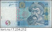 Купить «5 Украинских гривен 2011 года», иллюстрация № 7234212 (c) александр афанасьев / Фотобанк Лори