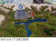 Макет туристической базы на озере Казеной-Ам, Чечня (2014 год). Редакционное фото, фотограф Руслан Нунаев / Фотобанк Лори