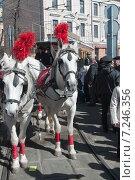 Купить «Конка - первый московский трамвай», фото № 7246356, снято 11 апреля 2015 г. (c) Александр Курлович / Фотобанк Лори