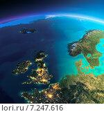 Купить «Великобритания и Норвегия. Вид из космоса», иллюстрация № 7247616 (c) Антон Балаж / Фотобанк Лори
