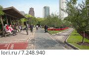 Купить «Городской парк. Шанхай. Китай», видеоролик № 7248940, снято 6 мая 2014 г. (c) Кирилл Трифонов / Фотобанк Лори