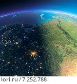 Купить «Фрагмент планеты Земля. Европейская часть России», иллюстрация № 7252788 (c) Антон Балаж / Фотобанк Лори