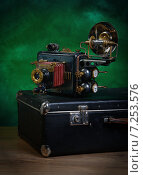 Купить «Фотоаппарат в стиле стимпанк», фото № 7253576, снято 6 апреля 2015 г. (c) Валерий Александрович / Фотобанк Лори