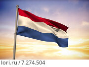 Купить «Composite image of netherlands national flag», фото № 7274504, снято 29 мая 2020 г. (c) Wavebreak Media / Фотобанк Лори