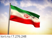Купить «Composite image of iran national flag», фото № 7276248, снято 26 июня 2019 г. (c) Wavebreak Media / Фотобанк Лори