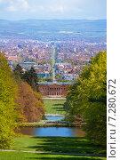 Купить «Парк Вильгельмшолль (Bergpark Wilhelmshöhe), в городе Кассель (Kassel), Германия», фото № 7280672, снято 18 апреля 2014 г. (c) Сергей Новиков / Фотобанк Лори