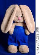Купить «Мягкая игрушка заяц», фото № 7282308, снято 15 апреля 2015 г. (c) Владислав Осипов / Фотобанк Лори