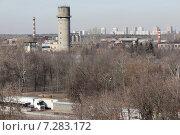 Купить «Балашиха, вид на трассу М7 и череду заводов. НИИ, Рубин, БЛМЗ», эксклюзивное фото № 7283172, снято 19 марта 2015 г. (c) Дмитрий Неумоин / Фотобанк Лори