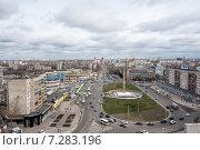 Купить «Вид на площадь Победы в г. Липецк», эксклюзивное фото № 7283196, снято 16 апреля 2015 г. (c) Сайганов Александр / Фотобанк Лори