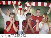 Купить «Composite image of various football fans», фото № 7285092, снято 19 июня 2019 г. (c) Wavebreak Media / Фотобанк Лори