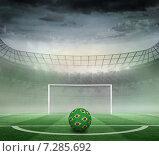 Купить «Composite image of football in brazilian colours», фото № 7285692, снято 19 июня 2019 г. (c) Wavebreak Media / Фотобанк Лори