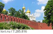 Купить «Успенский собор Московского Кремля», фото № 7285816, снято 24 мая 2014 г. (c) Алексей Ларионов / Фотобанк Лори