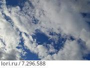 Купить «Большие красивые облака на голубом небе», эксклюзивное фото № 7296588, снято 9 апреля 2015 г. (c) lana1501 / Фотобанк Лори