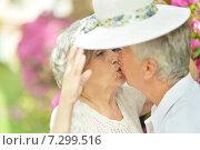 Happy old couple. Стоковое фото, фотограф Ruslan Huzau / Фотобанк Лори
