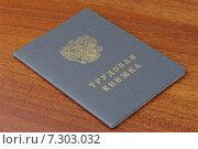 Купить «Трудовая книжка», фото № 7303032, снято 17 апреля 2015 г. (c) Денис Ларкин / Фотобанк Лори