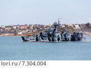 Купить «Самум - малый ракетный корабль на воздушной подушке Черноморского флота, проекта 1239», фото № 7304004, снято 5 апреля 2015 г. (c) Дмитрий Лукин / Фотобанк Лори